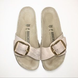 Birkenstock Madrid Big Buckle Metallic Leather 36